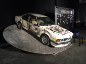 "The ""BMW Art Car"" painted by James May in the episode where they opened an art gallery about cars in Leeds"