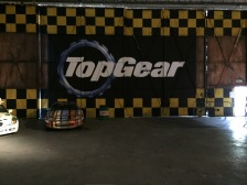The Top Gear logo on the wall as can be seen in the show.